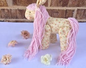 Horse rag doll, pony rag doll, My little pony rag doll, Nursery decor little horse