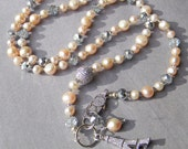 Ooh La La - Romantic Paris Pearl Necklace - Pink Pearls and Feminine Bling
