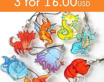 Acrylic charm DEAL: 3 for 16.00 USD