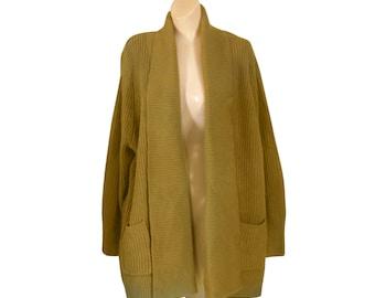 Long Cardigan Slouchy Sweater Cowichan Cardigan Cowichan Sweater Gold Cardigan Gold Sweater Oversize Sweater Oversize Cardigan Long Sweater