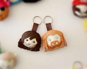 The Hobbit Felt Keychains