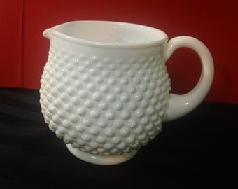 Vintage Fenton Hobnail pattern Milk Glass 32 Oz. Squat Jug