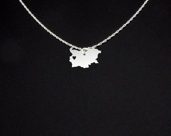 Bulgaria Necklace - Bulgaria Gift - Bulgaria Jewelry