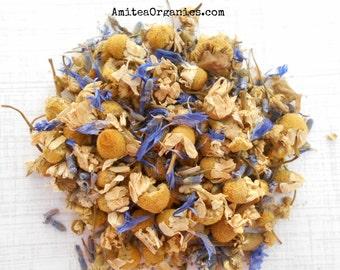 DREAMWEAVER Organic Herbal Tea,Hand Blended, Sleepy Time Tea, Chamomile+Lavender ,Caffeine Free, 1oz Earth Friendly Box
