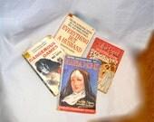 High-Brow Pulp Fiction Paperbacks, Set of 4, Oddball Lowball Reading Material