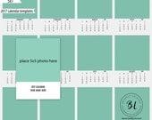 2017, 5x7, calendar, calendar template, photography, art, digital file