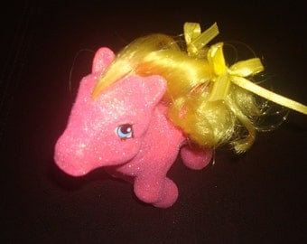 Gorgeous Custom Glitter Best Wishes My Little Pony Pink Birthday Candles Gift Present OOAK