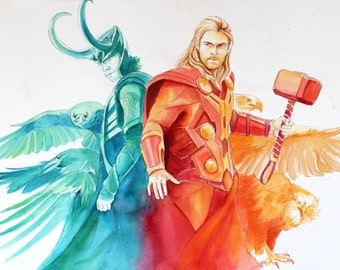 Brothers: Thor and Loki