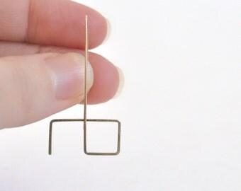 Geometric Earrings- Unique Earrings- 14k Gold Filled or Sterling Silver Earrings- Sculptural Earrings- Statement Earrings- Fun Earrings