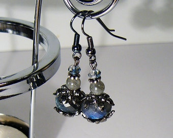 Elizabeta Labradorite earrings