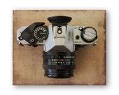 Photo Print Canon, Vintage Camera Photo Art, Camera still life decor, Camera Collector Decor,  Brownie Hawkeye Decor