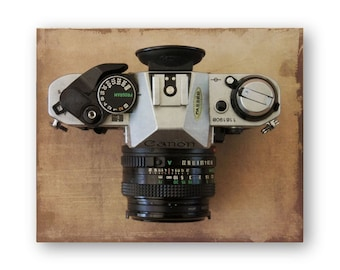 Photo Print Canon, Vintage Camera Photo Art, Camera still life decor, Camera Collector Decor,  Brownie Hawkeye Decor