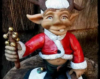 """SALE- Christmas Troll with antlers - """"Homer"""""""
