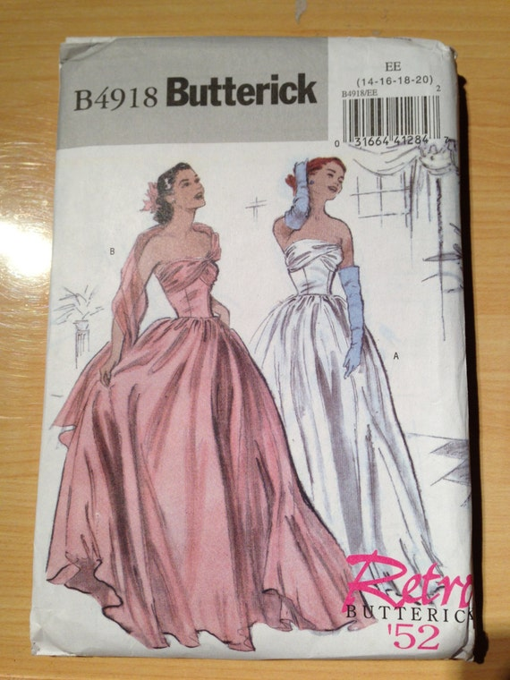Butterick Sewing Pattern Misses Retro Dress Size 14-20