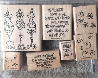Stampin' Up! I Like Your Style, set of 7 // Scrapbooking rubber stamps // Rubber stamps for card making // craft rubber stamps // decorative