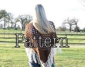 Crochet PATTERN, Triangle Shawl, crochet triangle shawl pattern, shawl pattern, triangle shawl pattern || The Charolette