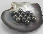 NEAR ROUND Tahitian Black Pearl, AA, Undrilled, Pearl size: 10.00-10.99mm, (F4) Per Pearl