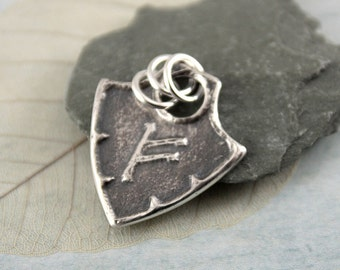 Shield Rune Pendant - Sterling Silver in Viking Style - Choose Your Rune