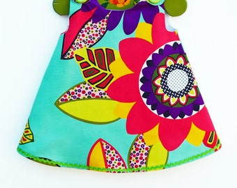 Rainbow Sunflower Girls Dress  - Baby Girls Dress - Infant Dress Pattern - Baby Clothing - Floral - Toddler - Girls Pattern -  3M to 4T