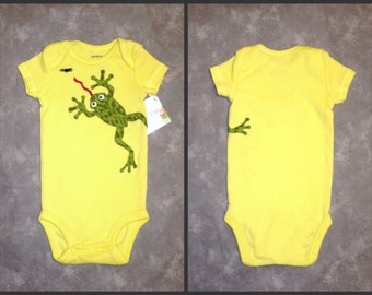 Frog bodysuit Size 3M - TWO SIDED - Ready to Mail