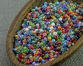 20g Czech seed beads Mixed colorful seed beads MIX-19 Czech rocailles Seed bead soup seed beads last