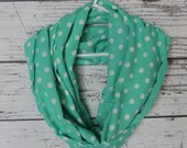 Polka Dot Infinity Scarf, Loop Scarf, Fashion Scarf