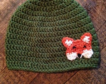 Fox Hat, Crochet Animal Hat, Children's Hat, Made to Order