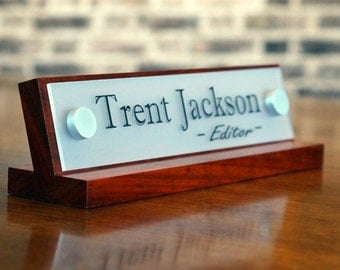 Office Accessories Decor: Desk Name Plate For Her Birthday Gift 10 x 2.5 inches