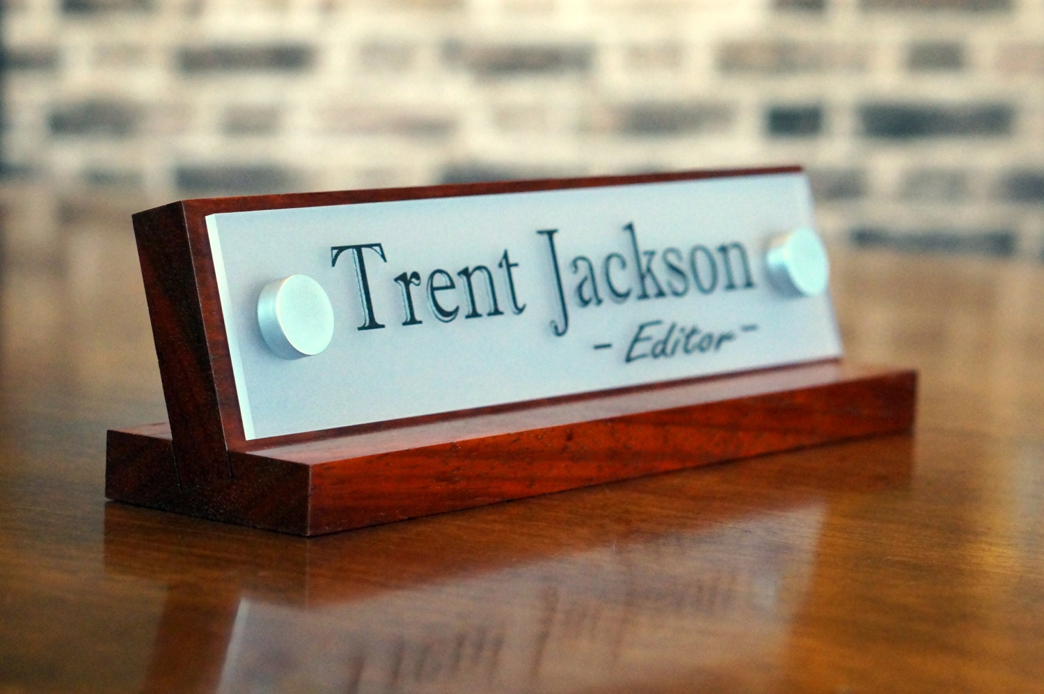 Office Accessories Decor Desk Name Plate For Her Birthday