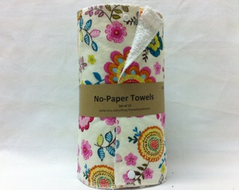 Unpaper Towels, Reusable unpaper Towels, snapping towels - Florianne