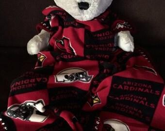 Arizona Cardinals Football Block Fleece Sports Baby Blanket