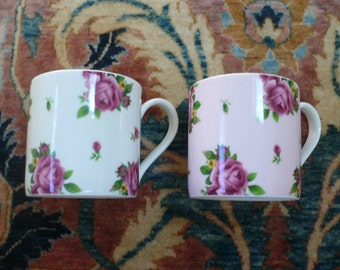 Two Royal Albert New Country Roses Mugs
