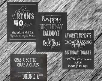 Custom 8x10 Chalkboard Printable Sign -- You Choose the Wording