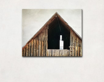 Barn Photography, Canvas Art, Farmhouse Decor, Rustic Wall Art