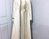 60s Couture Silk Beaded Gown With Evening Coat