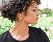 Sterling silver minimalist earrings, Thin silver hoop earrings, Hoop earrings silver, Minimalist hoop earrings, Minimalist earrings silver