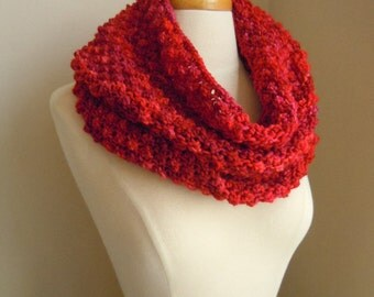 Merino wool Long cowl - Rose