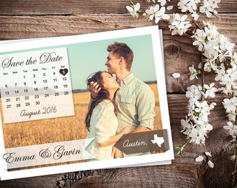 Save The Date Magnet, Card or Postcard