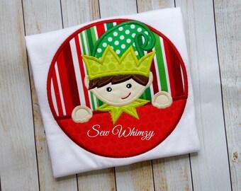 Christmas Elf shirt- Christmas shirt or bodysuit- Boy elf