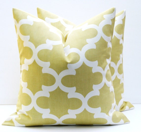 Items similar to Pillow Covers Gold Pillow. Grey Yellow Pillows . Blue Gold Pillow Moroccan Home ...