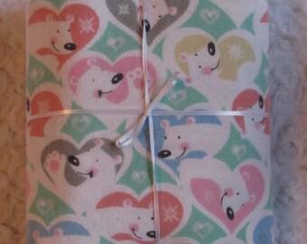 Extra Large Flannel Swaddle Blanket, Polar Bear Print