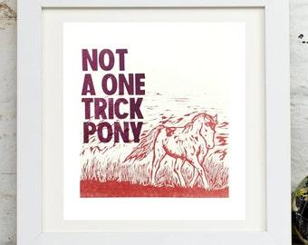 Pony (original letterpress print)