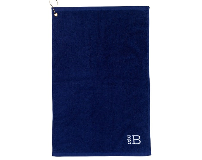 Monogrammed Golf Towels, Monogrammed Gifts, Monogram Golf Towels, Personalized Gift for Men