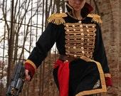 MADE TO ORDER - warhammer commissar surcoat jacket uniform gold black wh40k imperial guard astra militarum coat larp cosplay sci-fi geek