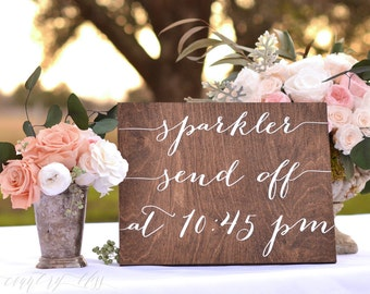 Sparkler Send Off Sign, Wedding Sparkler Sign, Wedding Send Off Sign, Wooden Wedding Sign,