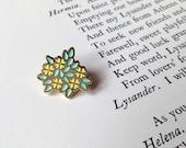 Primrose Soft Enamel Pin - Shakespeare's Flowers