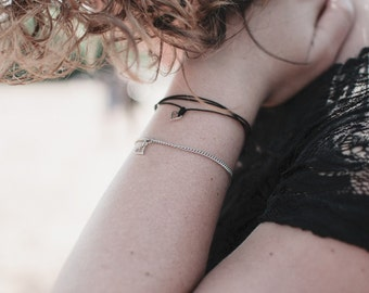 Love Bracelet CHAîNE stainless / Stainless chain silver heart bracelet
