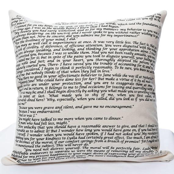 Pride & Prejudice Pillow Cover