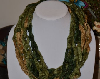 Green and Yellow Chain Scarf/Necklace - Many Colors Available!