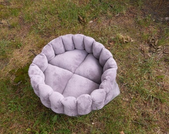 Cat bed, dog bed, purple bed, pet bed, kitty bed, deep pet bed, kitten bed, purple cat bed, purple dog bed,round pet bed, deep cat bed